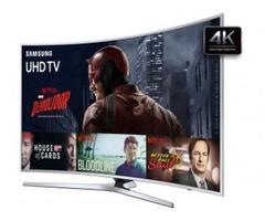 TV LED Curva 55″ Samsung 4K Ultra HD – KU6500 Conversor Digital Wi-Fi