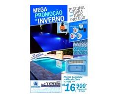 Mega promoção de inverno Piscina modelo Maresias II incluindo