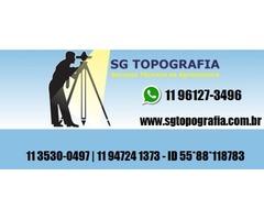 Serviço de topografia, Georreferenciamento, locação para obras